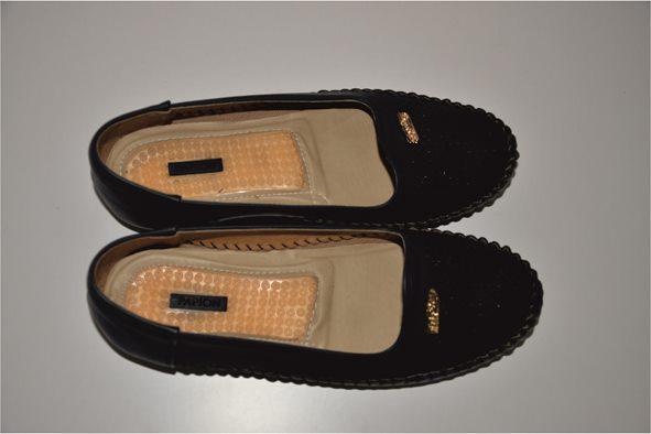 کفش چرم مصنوعی سیاه