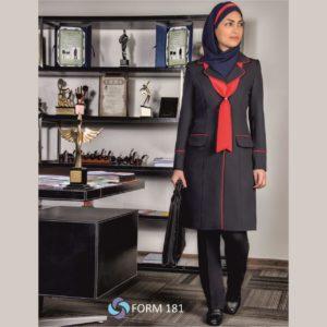 محصولات لباس شرکتها | فاستونی سرمه ای یقه انگلیسی مغزی قرمز